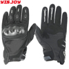 Leather biker gloves durable motor biking racing motorcycle driving riding gloves