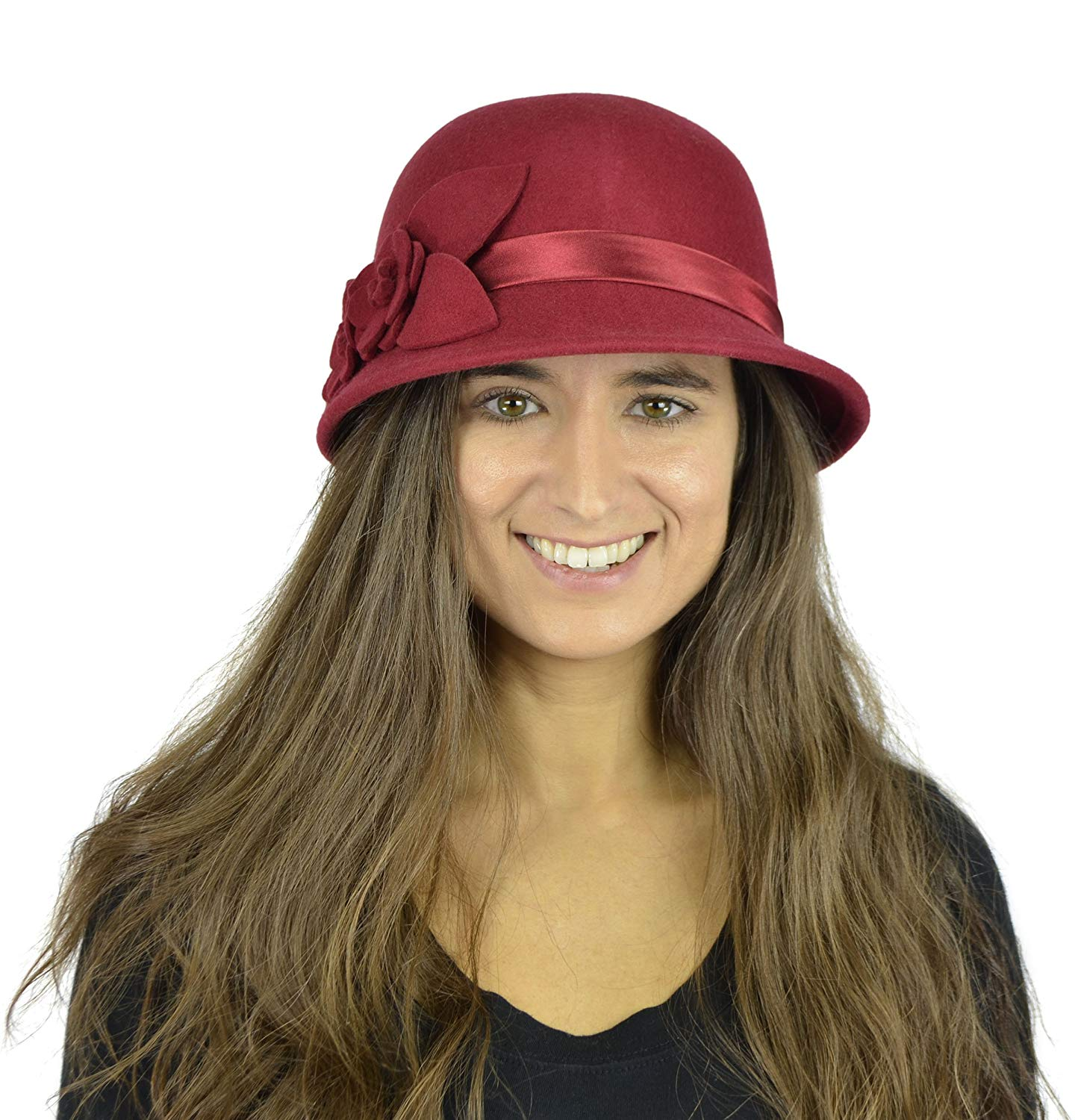 e4a6ff3c05f Get Quotations · Belle Donne Women s Pure Wool Cloche Hats - Many Colors