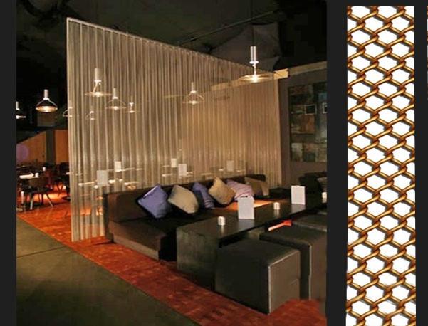 Gaas Het Interieur : Interieur opknoping decoratieve metalen gaas gordijn hotel