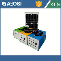 Full power solar system solar lighted address signs 30w 7ah mini solar system with CE and ISO