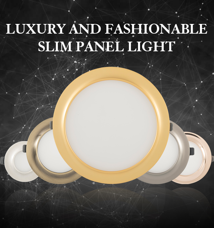 Electroplating ip44 recessed led light panel 20w for hotel living room