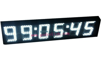 "LED Digital Clock 5"" 12/24 Hour Display Support Countdown/up Function by remote"