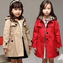 Autumn And Winter Baby Girls Coat Woolen Trench Children Outwear Kids Fashion Cape For Girl Jacket