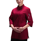 Oem fashion hot sell restaurant hotel bars kitchen 235gsm 65% polyester 35% cotton chef uniform