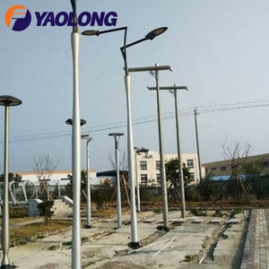 new design satin brush spinning modern aluminum alloy lamp post for garden and street