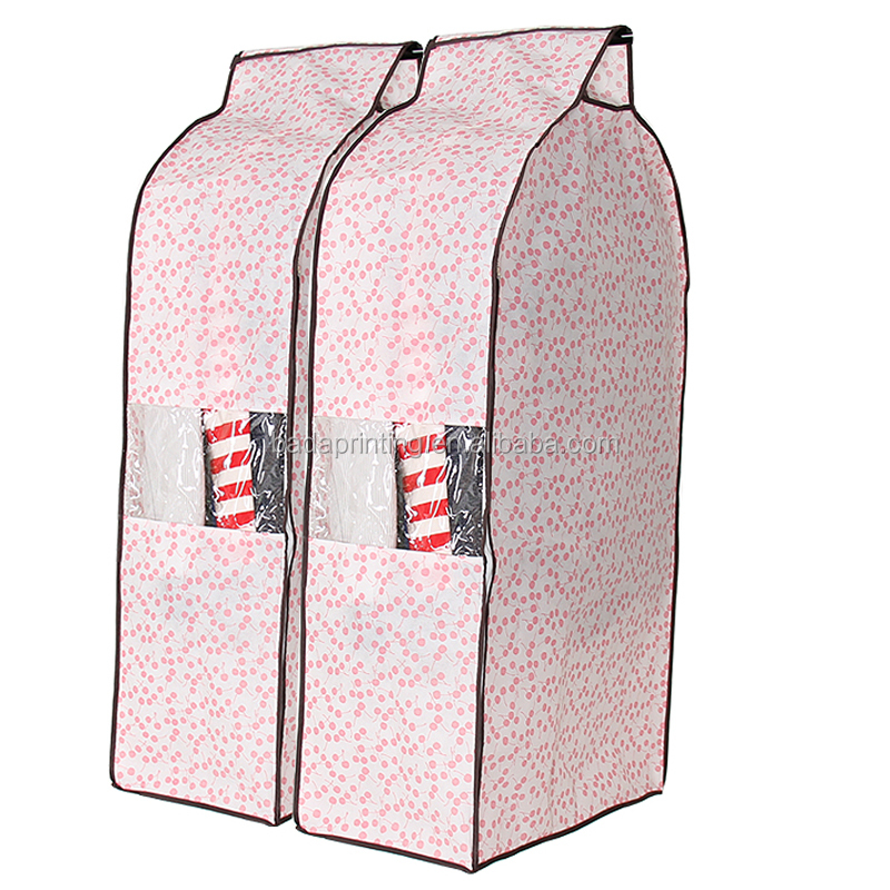 wholesale cotton fabric garment bag folding bag suit cover