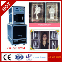 quality advanced technology support 3D laser engraving marking printer for k9 crystal gift