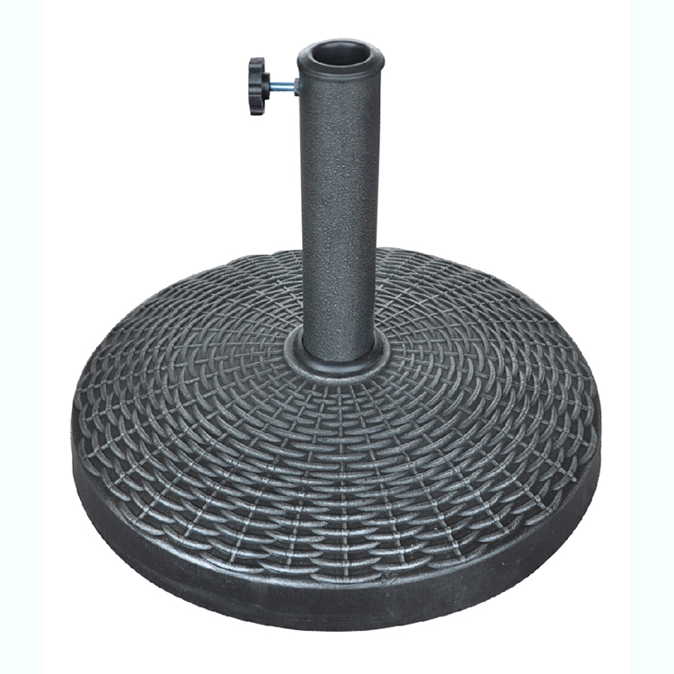 High Quality Hot Sell Outdoor Garden Round Resin Umbrella Base Stand
