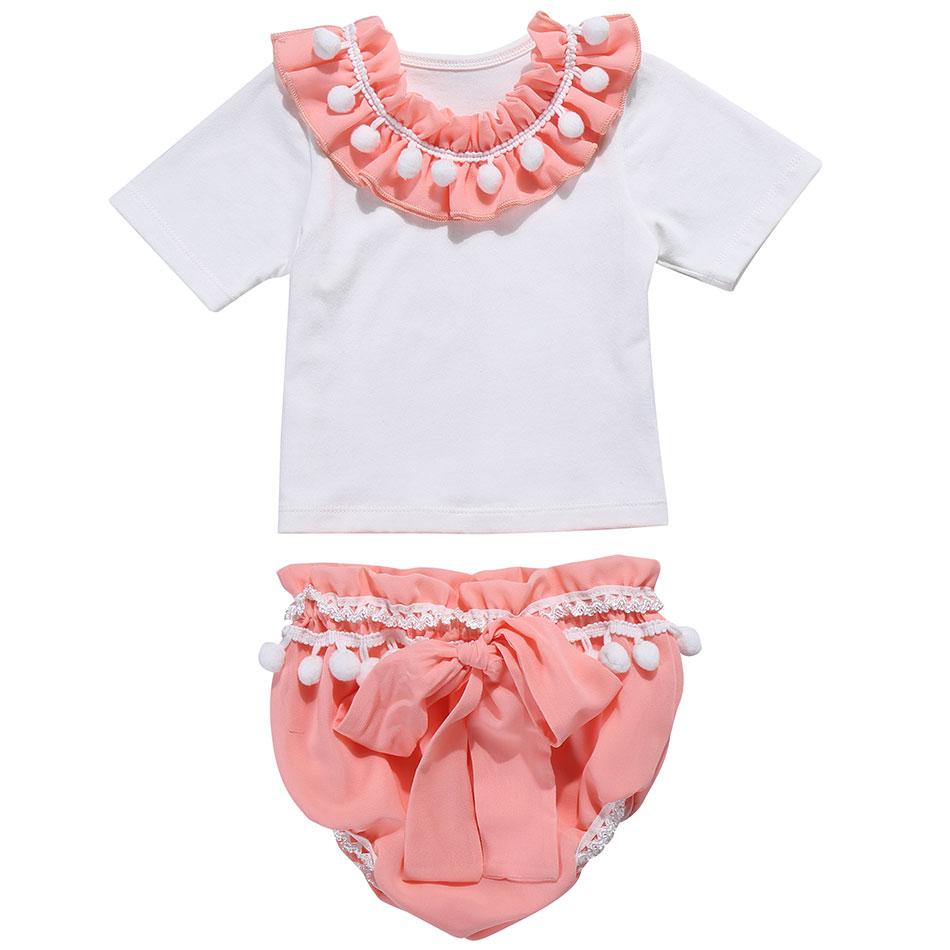 cb36e4b703b2 2019 de alta calidad Boutique ropa de bebé niñas 2 piezas dulces trajes de  verano para