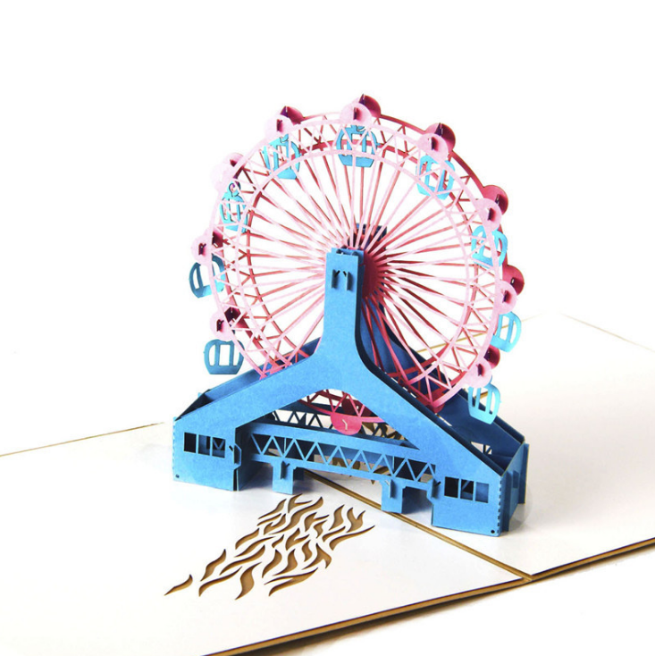 London Eye 3d Pop Up Cards Happy Greeting Best Wishes Birthday Gift For Friend