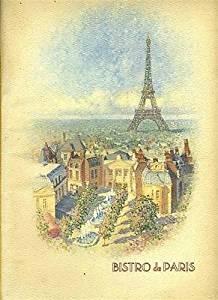 Bistro de Paris Menu France World Showcase Epcot Center Walt Disney World