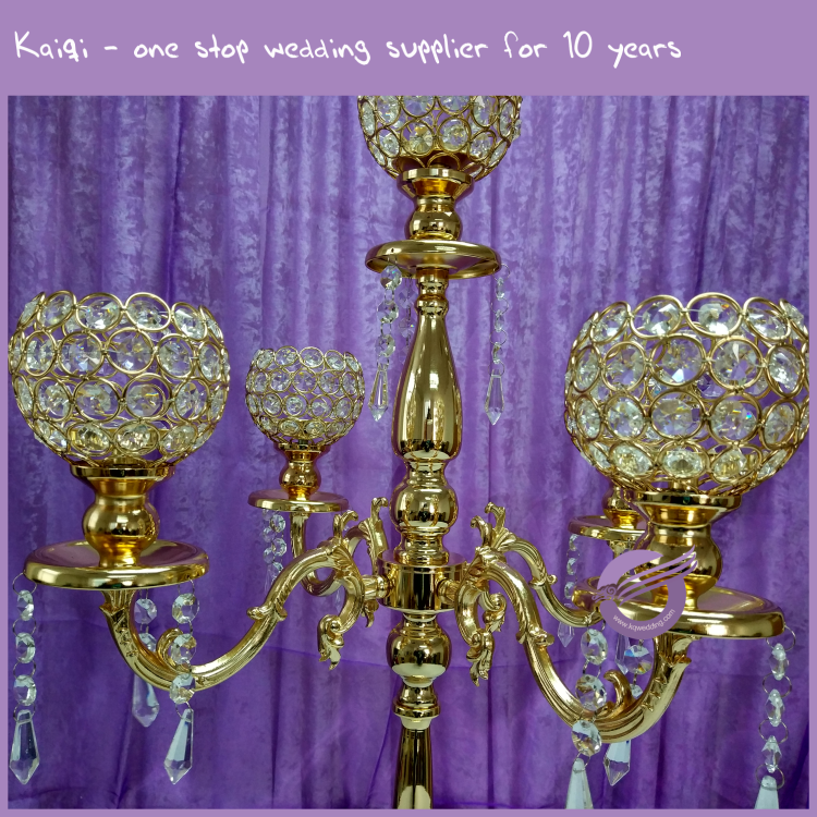 Zt wholesale wedding centerpieces metal crystal
