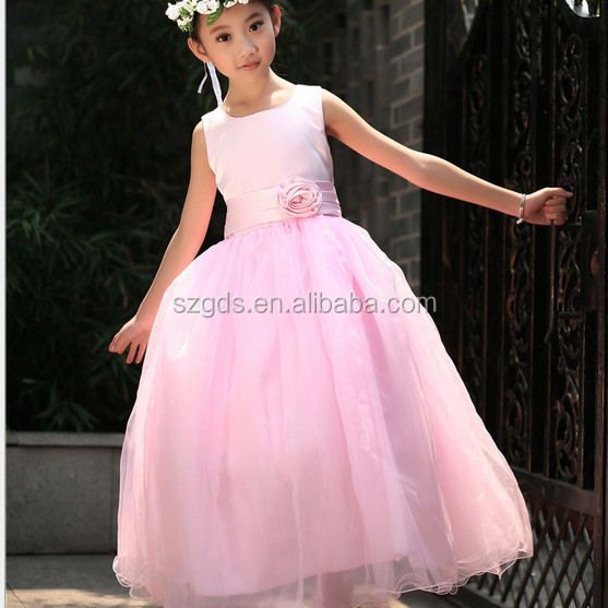 2015 Top Grade Kids Party Wear Dresses Stereo Designer One Piece ...
