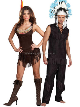 Adult Sexy Halloween Party Indian Chief of Tribe Costume Clothing Fancy Cosplay Dress AWC-2467  sc 1 st  Alibaba & Adult Sexy Halloween Party Indian Chief Of Tribe Costume Clothing ...