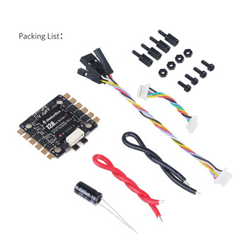 Makerfire brand 27*27mm BLHeli-S 4-in-1 12a ESC compatible with 2-3 S lipo battery