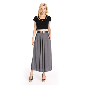 Long Grey Skirt - Dress Ala