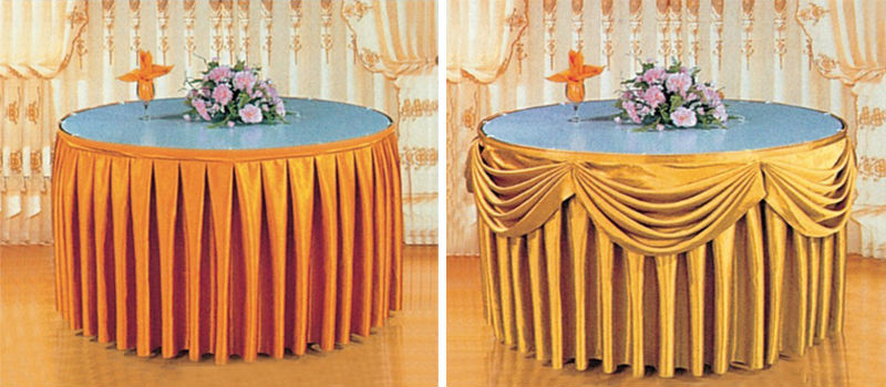 Table skirting table skirts table cover xy35 buy table for Table design sample