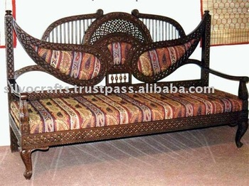 Indian Teak Wood Hand Carved Living Room Furniture With Sofa Set U0026 Chairs,  Coffee Table