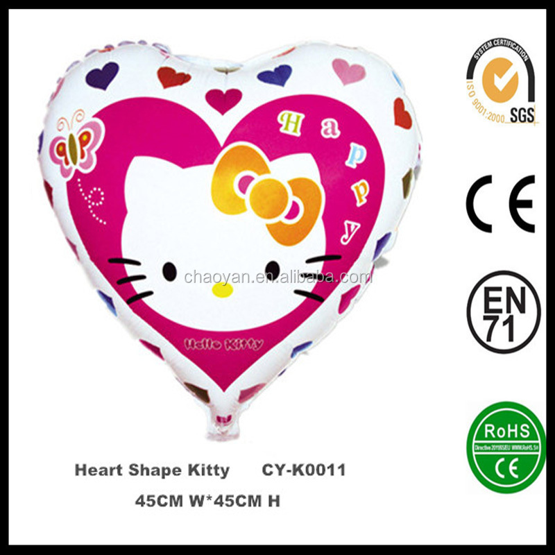 Cartoon Animal Balloons Heart Shape Hello Kitty Foil Balloons Birthday Party/Halloween Decoration Children Toys