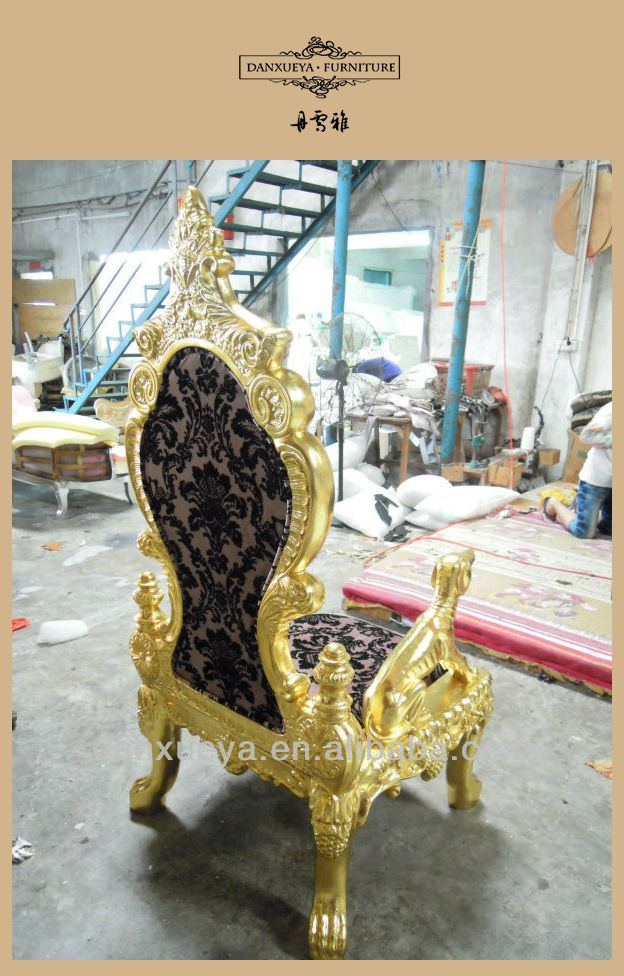 2013 royal gold antique design king throne chair for sale for Buy iron throne chair