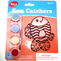 Coloring Stained Glass Fish Pattern Craft Suncatcher