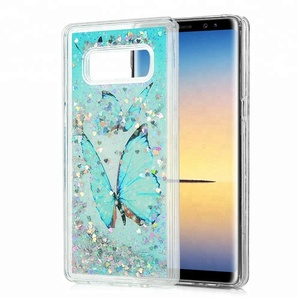 Drop Protection Butterfly Liquid Quicksand Mobile Cover