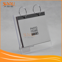 Hang Or Desktop Clear Acrylic Photo Frame With Custom Size