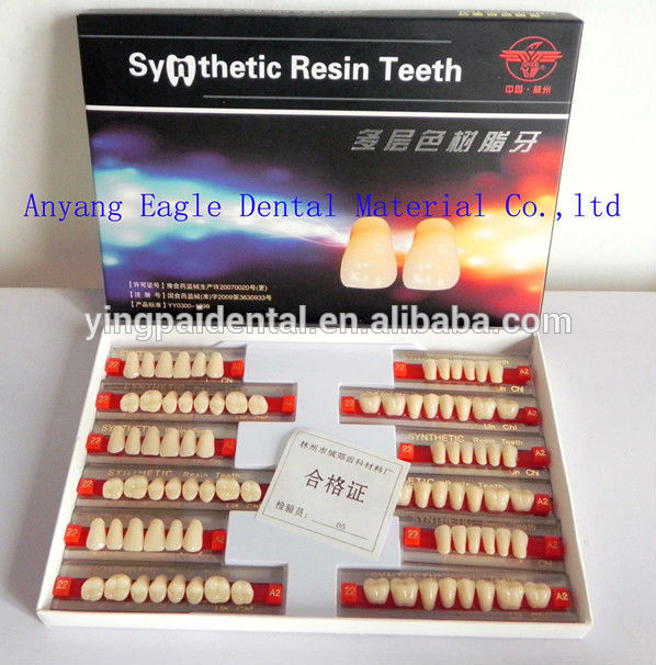 Iso And Ce Dental Synthetic Resin Acrylic Teeth Manufacturer For ...
