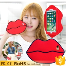 For i Phone 7 Cute Girl Mobile Back Cover Bag 3D Silicone Phone Case