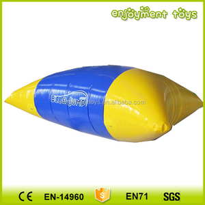 0.9mm PVC Tarpaulin giant Inflatable Water Jumping Pillow / Inflatable Water Catapult Blob For Sale