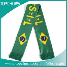 words Cheap Custom design Football Scarves printed fans scarf sport