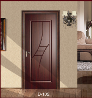 Modern Bathroom Decorative Design MDF Wooden Door From Door Factory
