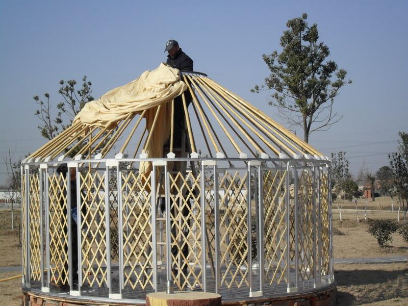 Winter Yurt Luxe Mongoolse Tent Gebruikt Voor Outdoor