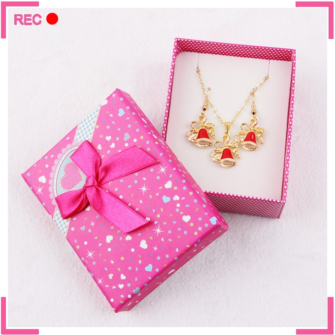 Fancy necklace sets for women, christmas topic necklace and earring sets