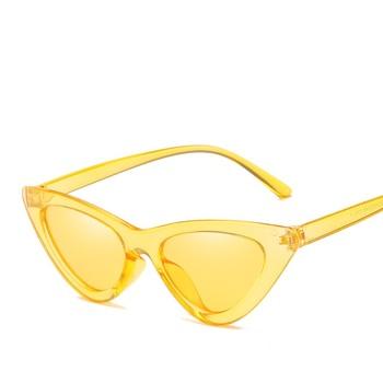4c69eab1c18 2018 Fashion Trending Women Cat Eye Sunglasses Triangle Cute Sexy Small  Retro Sun Glasses Red Black