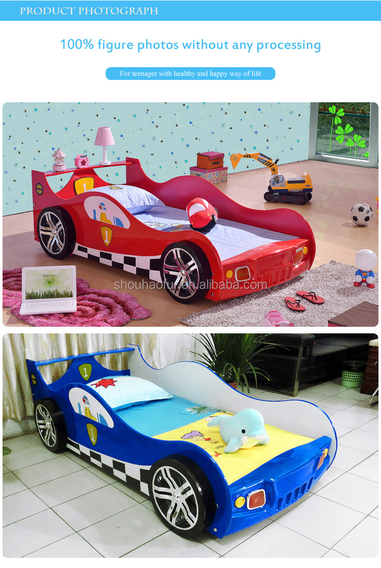 gril princess kids race car bed