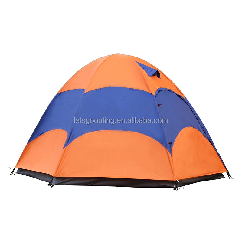 4-5 Person Waterproof Portable Double layer Outdoor Safari Camping Tent Hunting Tent(HT6022)
