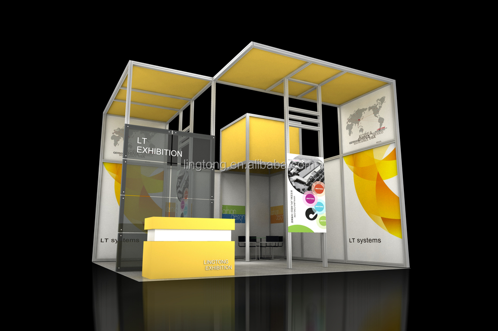 Exhibition Stall Making : Aluminium exhibition stall design shop display