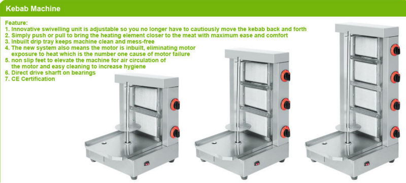 Stainless Steel Electric Shawarma Machine,Electric Shawarma BN-RE03