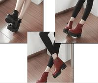 S61680A New trend autumn/winter best selling good quality pu leather women shoes ladies boots