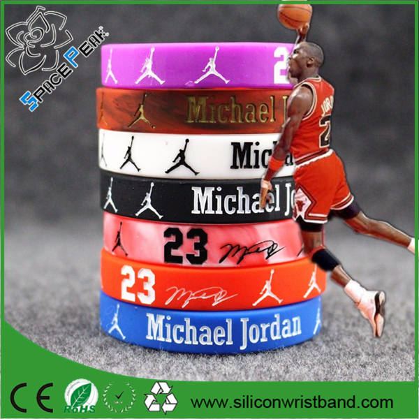 Basketball Star Rubber Wrist baller band Movement Silicone Bracelets For Men And Women Fans 2016 New Fashion