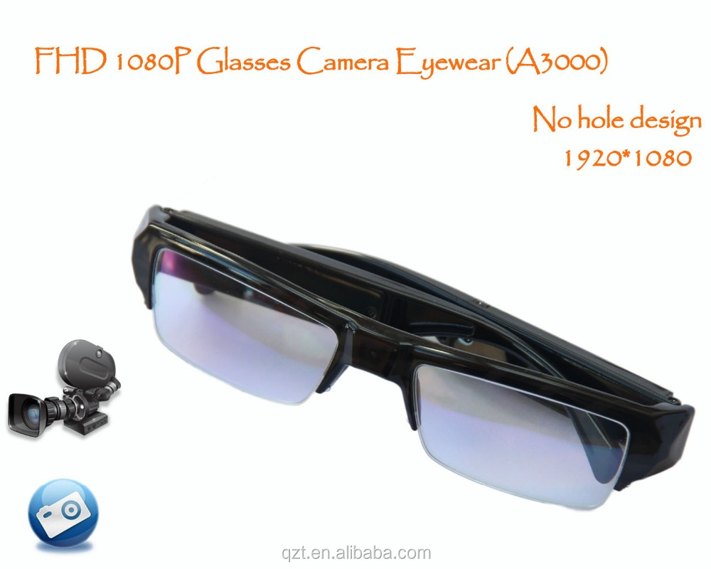 HD 1080P A3000 Camera Glasses Sunglasses dvr Camera Eyewear Mini DV DVR safety audio / video camer