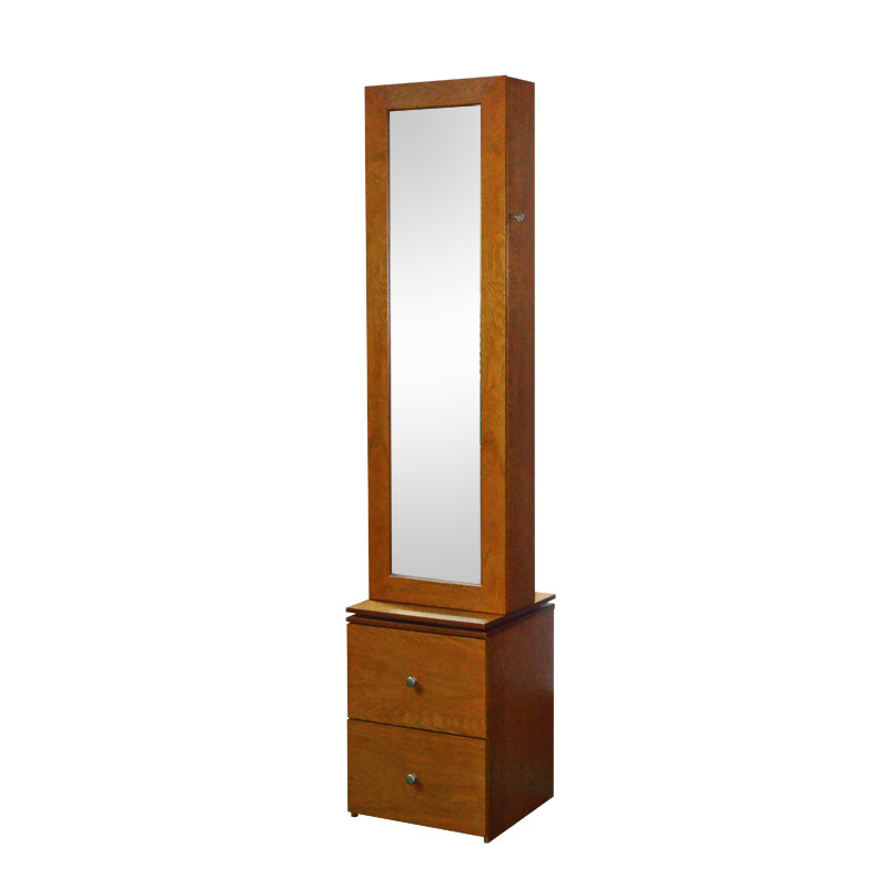 Rotating Floor Stand Wooden Dressing Mirror Jewelry Cabinet - Buy ...