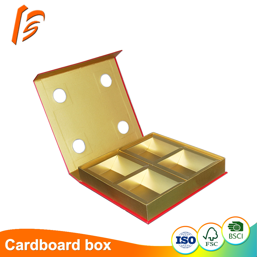 4 Cavity Compartment Cardboard Gift Boxes Biscuit Packaging Box Buy Cavity Box Gift Box Biscuit Packaging Box Product On Alibaba Com