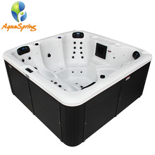 Corner above in ground hot tubs