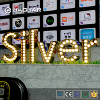 Super bright outdoor waterproof metal acrylic marquee led letters large alphabet letters /signs