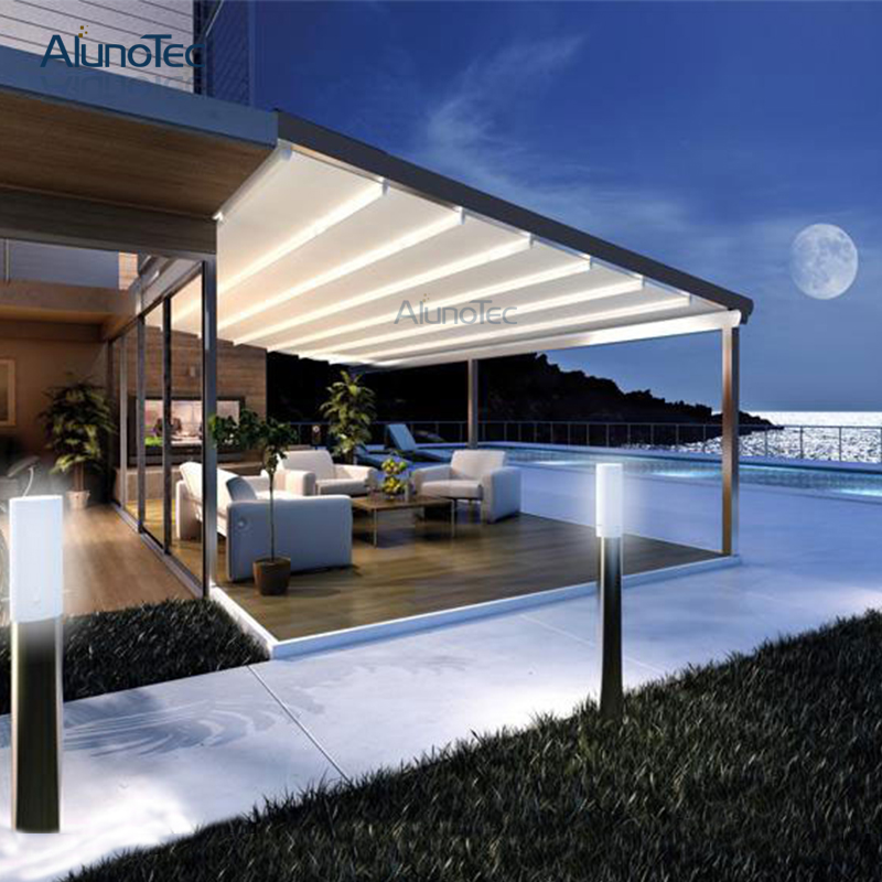 Factory Wholesale Waterproof Gazebo Retractable  Awning For Garden