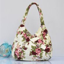 Women Lady Canvas Hobo Tote Bag Floral Flower Korean Shoulder Shopping Fashion Handbag