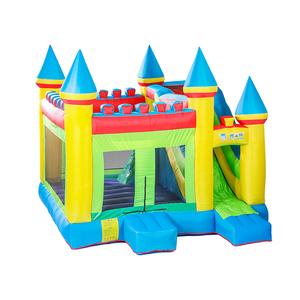 Fabric New Best Price Top Quality Goalkeeper Training Dummy Bounce House With Slide For Sale Inflatable Adult Castles