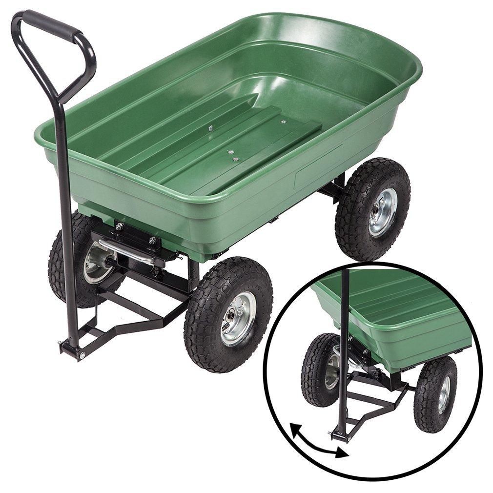 Get Quotations Bestmage Heavy Duty Poly Garden Utility Yard Dump Cart Wheel Barrow